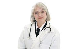 Fälliger weiblicher Doktor lizenzfreie stockfotografie