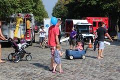 Fällt Punktfestival-Familienausflug Lizenzfreie Stockfotos