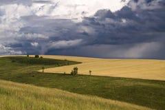 fält över stormåska Royaltyfri Fotografi