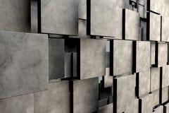 Fält av bruntfyrkantplattor med stentextur stock illustrationer