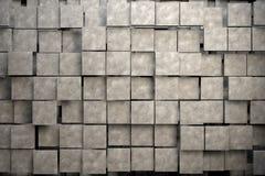 Fält av bruntfyrkantplattor med stentextur Fotografering för Bildbyråer