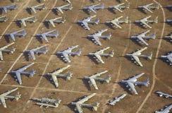 Fält av flygplan B-52 Fotografering för Bildbyråer