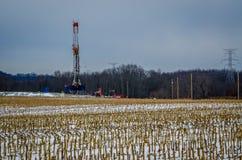 Fält av Fracking Arkivfoto