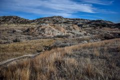 Fält av grässlättar med sceniska kanjoner lite varstans Royaltyfria Foton