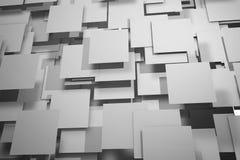 Fält av grå färgfyrkantplattor stock illustrationer