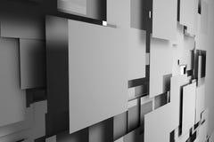Fält av grå färgfyrkantplattor vektor illustrationer