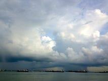 Fält av moln Royaltyfri Bild