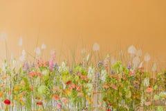 Fält blommaäng Intryck av naturen royaltyfria bilder