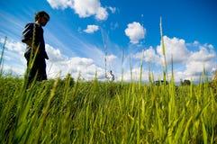 fält för 2 par Fotografering för Bildbyråer