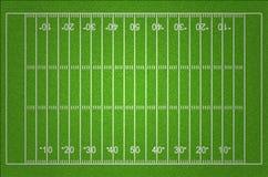 Fält för amerikansk fotboll Arkivfoto