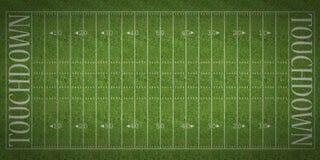 Fält för amerikansk fotboll Arkivbilder
