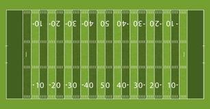 Fält för amerikansk fotboll med linjen och grästextur också vektor för coreldrawillustration royaltyfri illustrationer
