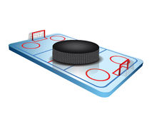 fält för hockey 3d Arkivfoton