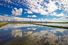 Fält för salt produktion av Nin royaltyfri foto