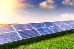 Fält för sol- energi Royaltyfri Foto