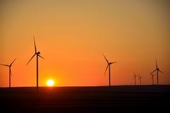 Fält för vindturbin Royaltyfria Bilder