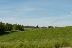 Fält i Aalborg Danmark Arkivbilder