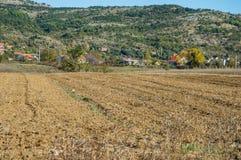 Fält i Knin, Kroatien arkivfoton