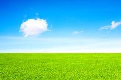 Fält, moln och himmel Royaltyfri Fotografi