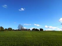 Fält Nr Crookham norr Northumberland, England Arkivfoto