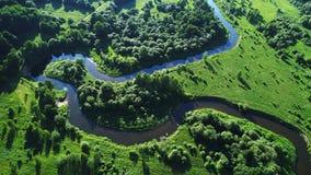 Fält och flod Arkivfoton