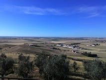 Fält på Alentejo Fotografering för Bildbyråer