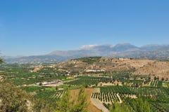 Fält på Kreta Royaltyfria Foton