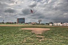 Fält på Tiger Stadium i Detroit Michigan Fotografering för Bildbyråer