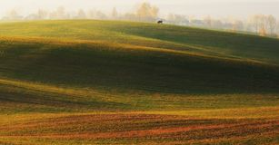 Fält pittoreskt höstfält Arkivbilder