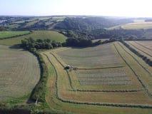 Fält som är farroweds Fotografering för Bildbyråer
