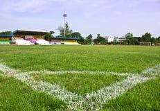 fält sparad fotbollfotboll Royaltyfria Bilder