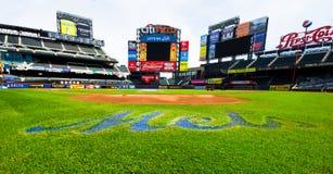 Fältbasebollarena för NY Mets Citi Arkivbild
