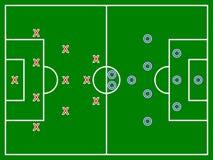 Fältdiagram för fotboll (fotboll) Arkivbild