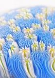 fältet blommar blåsigt exponeringsglas Arkivfoton