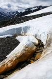 fältet jotunheimen snow Arkivfoto