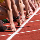 fältet sprintar startspåret Royaltyfri Fotografi
