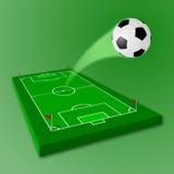 fältfotbollfotboll Arkivfoton