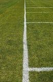fältfotbolllinje sida fotografering för bildbyråer