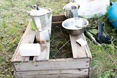 Fältköket Utomhus- matlagning Royaltyfri Bild