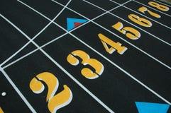 fältlanen numrerar spåret Arkivbild