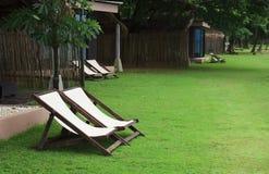 Fältsäng på grönskande gräsmatta Royaltyfria Foton