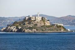 Fängelseö av Alcatraz i San Francisco, Kalifornien arkivfoton