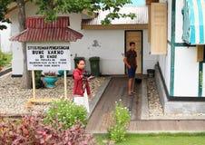 Fängelse av den första indonesiska presidenten Soekarno Royaltyfri Bild