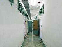 Fängelsearrestkorridor i Jing-Mei Human Rights Memorial och Cultu royaltyfri fotografi