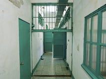 Fängelsearrestkorridor i Jing-Mei Human Rights Memorial och Cultu royaltyfria foton