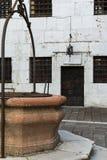 Fängelseborggård i doges slott i Venedig - Italien arkivfoton