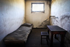 Fängelsecell i koncentrationsläger Arkivbilder