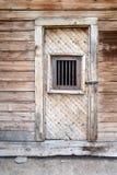 Fängelsedörren i den Bodie spökstaden, Kalifornien Royaltyfri Bild