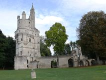 Fängelsehålan av Septmonts byggde i det 13th århundradet Royaltyfria Foton