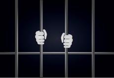 Fängelsestänger Arkivbild